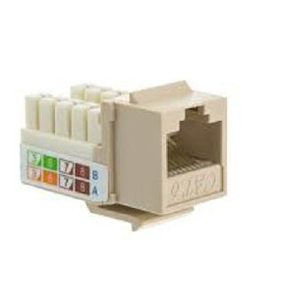 KEYSTONE JACK CAT6 WHT 110 90 DGREE BEIGE COLOR
