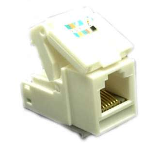 KEYSTONE JACK CAT3 WHT TOOLLESS 6P6C