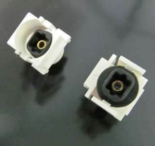 KEYSTONE COUPLER FIBER OPTIC JK-JK WHITE