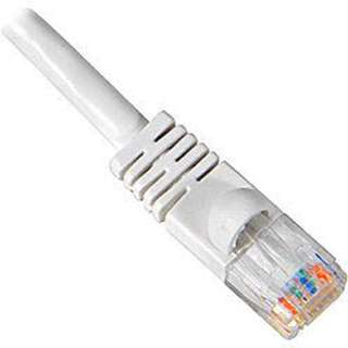 PATCH CORD CAT5E WHITE 50FT SNAGELESS BOTT