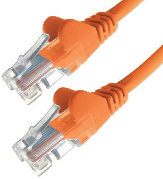 PATCH CORD CAT5E ORANGE 7FT SNAGLESS BOOT