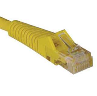 PATCH CORD CAT6 YELLOW 10FT SNAGLESS BOOT