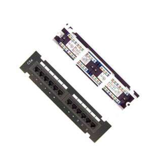 PATCH PANEL 12PORT CAT5E BLK 10INCH WITH BRACKET