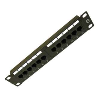 PATCH PANEL 12PORT CAT5E BLK 10INCH WITHOUT BRACKET