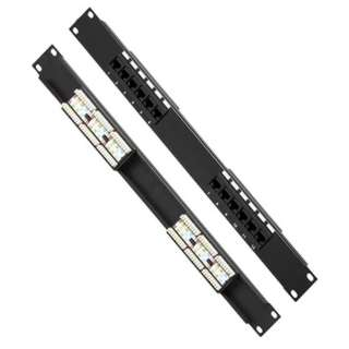 PATCH PANEL 12PORT CAT5E 19INCH RACKMOUNT
