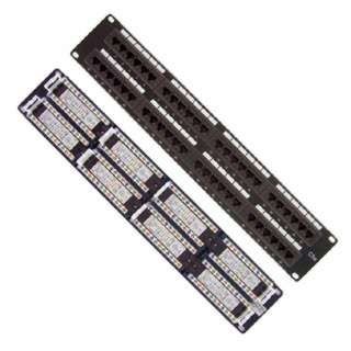 PATCH PANEL 48PORT CAT5E BLK 