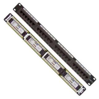 PATCH PANEL 24PORT CAT6 BLK 