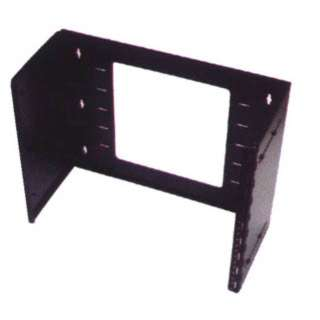 WALL MOUNT BRACKET 8U 19IN BLK ADJUSTABLE DEPTH 7-11IN HINGED