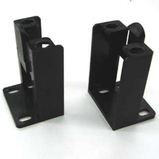 WALL MOUNT BRACKET FOR PATCH PANEL 2PC/SET BLK PLASTIC