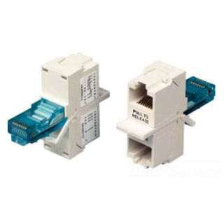 MODULAR T ADAPTER 8P8CJKX2-8P8CP JACK 1 HAS 4PR T568B(AT&T) WIRED