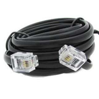MODULAR CABLE 6P4C M/M 25FT BLK 