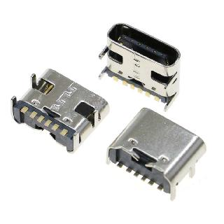 USB CONN C FEM SMT 6PIN 3.1 RA 