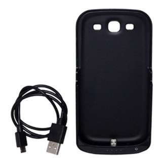 CELL PHONE BATTERY POWER PACK RUBBER CASE FOR SAMSUNG GLAXY S3