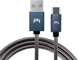 USB CABLE A MALE TO C MALE 3.3FT METAL BLACK FAST CHARGE & SYNC