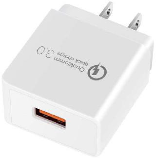 USB WALL CHARGER 5VDC@3A QUALCOMM QUICK CHRGE 3.0 GS-551