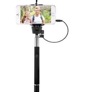 SELFIE STICK EXTENDABLE 36IN WITH SHUTTER RELEASE BUTTON BLK