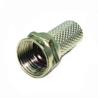 F PLUG RG6 TWIST ON TIN 