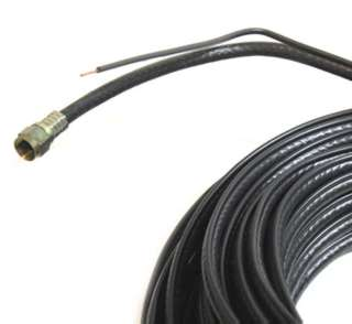 VIDEO CABLE RG6U F M/M 75FT BLK WITH GROUND WIRE