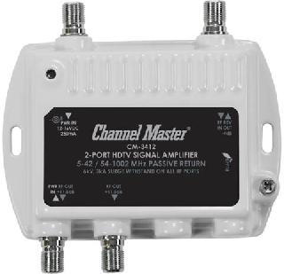 TV AMPLIFIER/SPLITTER 2WAY 11.5D 11.5DB 54-1002MHZ
