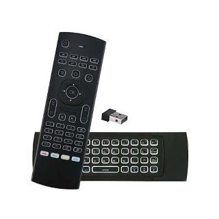 REMOTE CONTROL WITH WIRELESS FLY AIR MOUSE & KEYBOARD BACKLIT