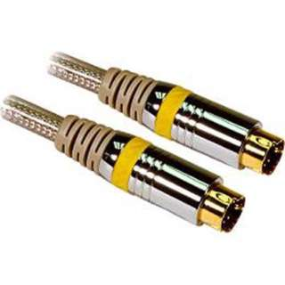 S-VIDEO CABLE MINI DIN 4M/M 6FT CLEAR GOLD