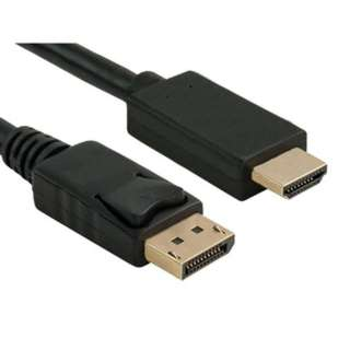 DISPLAYPORT MALE-HDMI MALE 6FT BLACK/WHITE