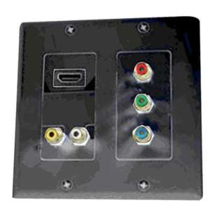 WALL PLATE HDMI WITH 5XRCA JACK 