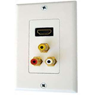 WALL PLATE HDMI WITH 3XRCA JACK COMPOSITE