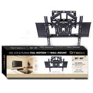 TV WALLMOUNT 32-65IN TILT/SWIVEL 45KG DUAL ARM