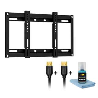 TV WALLMOUNT 23-42IN FIXED 110LB HDMI CABLE 2X6FT & CLEANING KIT