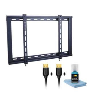 TV WALLMOUNT 32-60IN FIXED 110LB HDMI CABLE 2X6FT & CLEANING KIT