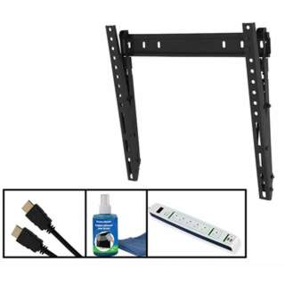 TV WALLMOUNT 26-55IN TILT 88LB W/POWERBAR 2XHDMI SCREEN CLEANER