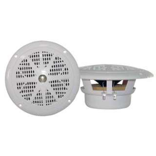 SPEAKER MARINE/CAR DOOR 4IN 100W 4R WHT RND WATERPROOF