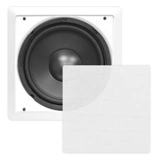 SUBWOOFER WALL MOUNT 4-8R 300W 8IN SQR WHT DUAL 8R VOICE COIL