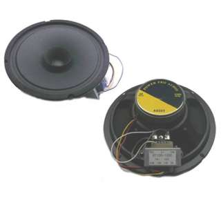 SPEAKER CEILING WALL MOUNT 8IN 60WATT 8R 13IN GRL ROUND W/TXFR