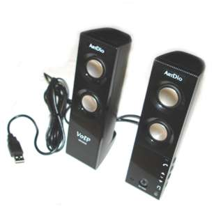 SPEAKER PC USB 2.0 BUILT-IN MIC 1W+1W AUTO MUSIC PAUSE & RESUME