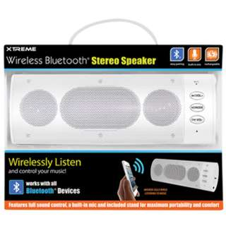 SPEAKER WIRELESS BLUETOOTH WHITE WITH BUILT-IN MICROPHONE
