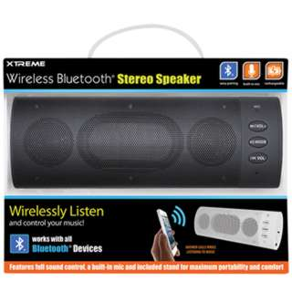 SPEAKER WIRELESS BLUETOOTH BLACK WITH BUILT-IN MICROPHONE