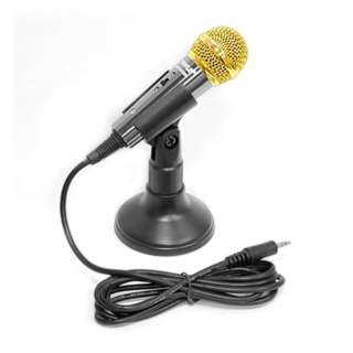 MICROPHONE CONDENSER W/WIRE 350R 30-18KHZ 8FT CABLE INCLUDE STAND