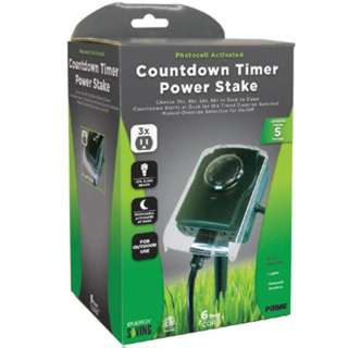 TIMER OUTDOOR PHOTOCELL ACTIVATE 6FT CORD OUTDOOR USE