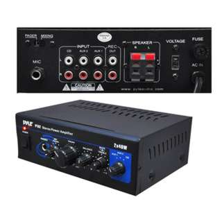 AMPLIFIER MINI 2X40W STEREO WITH AUX CD & MIC INPUTS