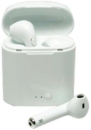 EARPHONE BLUETOOTH W/MIC WHITE WIRELESS RECHARGEBLE