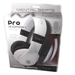 HEADPHONE STEREO 32R W/MIC WHT 4.9FT