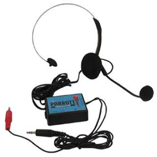 HEADSET WITH MICROPHONE AND PARROTT TRANSLATOR
