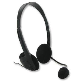 HEADSET WITH MICROPHONE 3.5MM STEREO PLUG