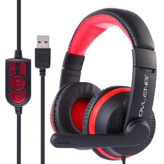HEADSET GAMING WITH MICROPHONE VOLUME CONTROL 6FT CORD WITH USB