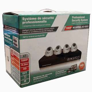 CAMERA SECURITY SYSTEM-4 CAMERAS DOME DVR 1TB HDD INDOOR/OUTDOOR