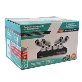 CAMERA SECURITY SYSTEM-8 CAMERAS 4PCS BULLET & DOME DVR 1TB HDD