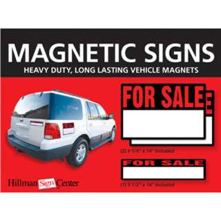 MAGNETIC VEHICLE SIGNS FOR SALE 2PC 9.2X14IN 1PC 3.5X14IN MAGNET