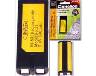 BATTERY NI-MH 2XAAAL 830MAH CORDLESS PHONE BATTERY